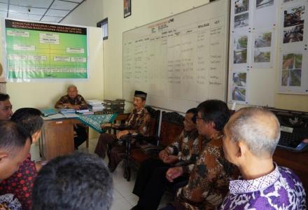 Kunjungan Lapang Pelatihan Pengurus LPMD di Desa Baturetno