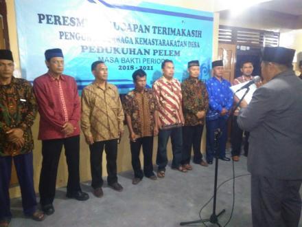 Peresmian Lembaga Kemasyarakatan Desa Tingkat Pedukuhan Pelem