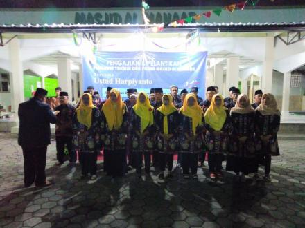 Pelantikan Pengurus Takmir dan Pengurus PRIMA Masjid Al Manaar Kalangan Masa Bakti 2019-2021