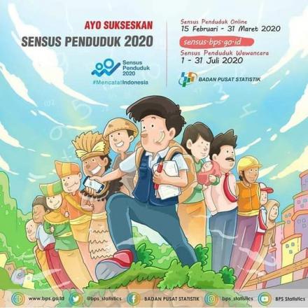 Sukseskan Sensus Penduduk, Mari Mencatat Indonesia